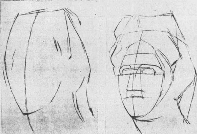 Рисунок голови. Основні етапи
